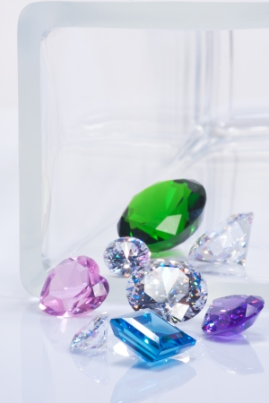 aquamarin: beautiful jewel, emerald, dimonds and sapphires