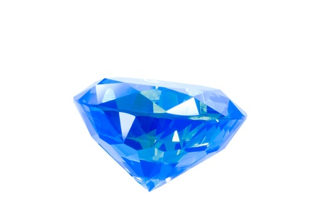 cz: blue gem isolated on white