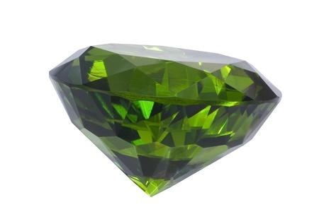 tsavorite: great emerald isolated on white Stock Photo