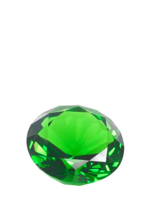emerald isolated on white Stock Photo - 15479014