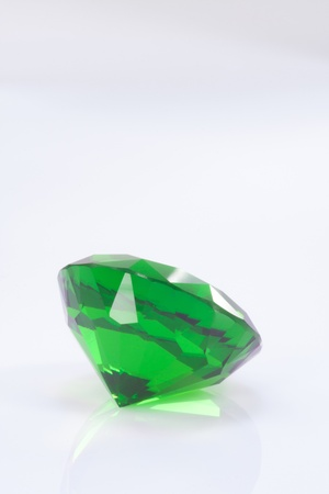 tsavorite: emerald bottom view on white