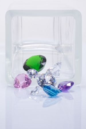 emerald, dimonds and sapphires Stock Photo - 15479028