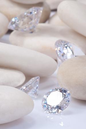 four dimonds and white stones Stock Photo - 15479035