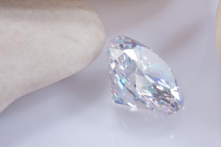 illuminate diamond with white stone Stock Photo - 15479036