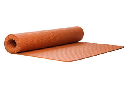 yoga mat cutout on white Stock Photo