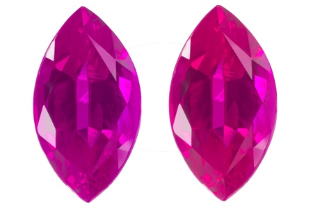 dazzlingly: purple and pink marquise isolated white Stock Photo