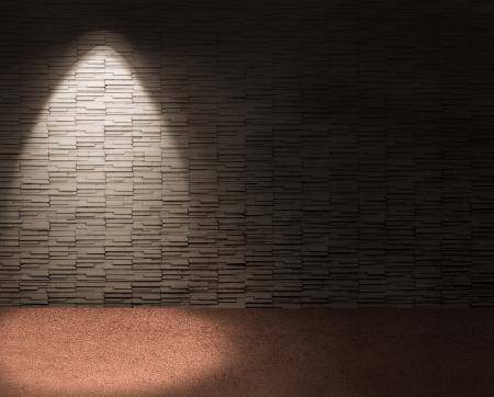 elegante Interieur mit Scheinwerfer auf der linken Hintergrund.