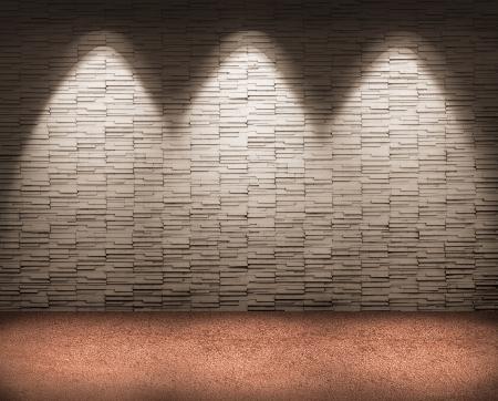 Beleuchtung auf Fliese Wand für Hintergrund.