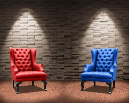 Zwei Kämpfer Sessel Standard-Bild - 18399413