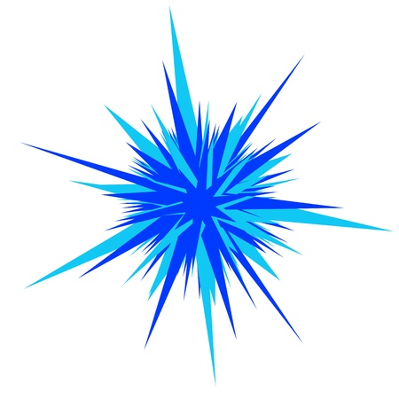 explosion blue and deepblue flare isolated on white. Stock Photo - 18399392