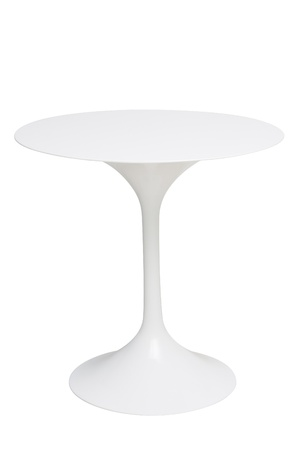 pieces of furniture: white round table isolated white