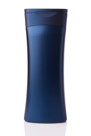 cosmetic bottle: blank bottle isolated on white