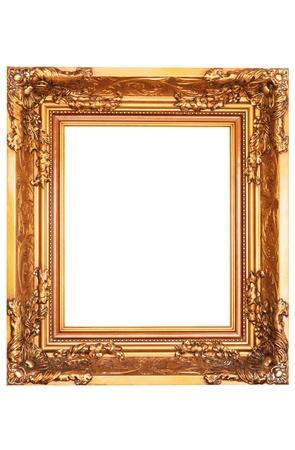 klassische Spiegel mit Goldrahmen isoliert