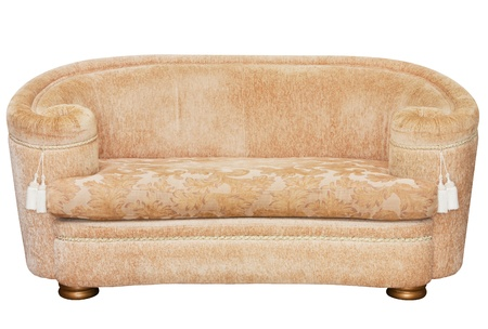 classic beige couch  isolated on white photo