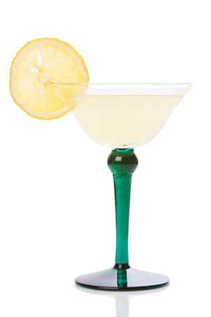 aperitive: smooth cocktail decorated with a slice of orange