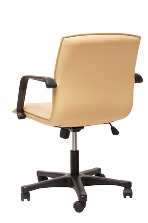 swivel: leather office chair isolated on white