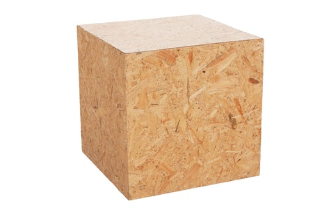 wood cubic isolated on white