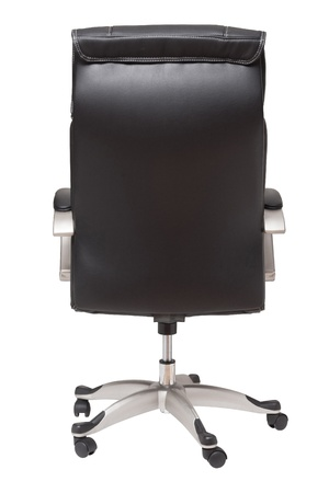 wheel chair: rear view boss chair isolated on white