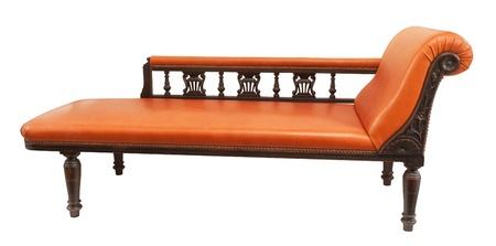 orange daybed isolated on white