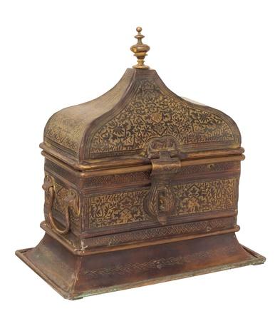 vintage arabian chest isolated on white Stock Photo - 21307670