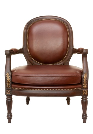 wood armchair isolated on white Stock Photo - 21307679