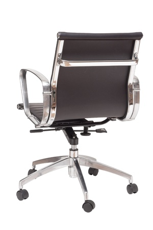 executive chair: back view office chair isolated on white