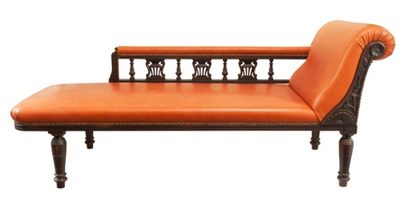 classic daybed isolated on white