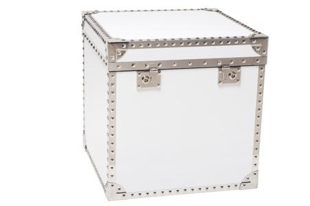 white modern chest isolated on white