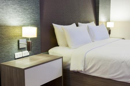 luxuriöse, moderne Hotelzimmer, Bangkok, Thailand.