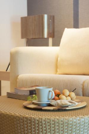 luxury room in condominium with living corner.