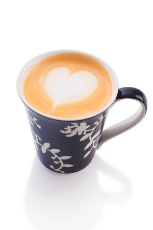 uk cuisine: thai milk tea isolated on white.