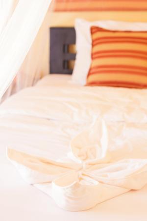 netting: Contemporary bedroom with mosquito netting at Banana Ganden Beach, Koh lanta, Krabi, Thailand.