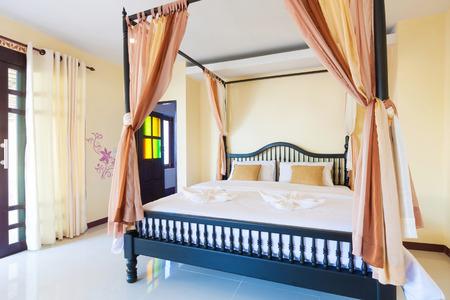 asian style: Contemporary bedroom at Banana Ganden Beach, Koh lanta, Krabi, Thailand.