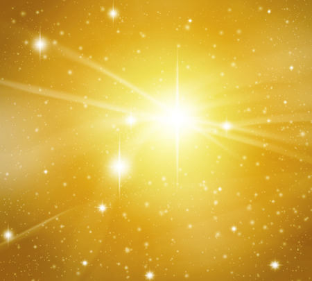 the light rays: Fantastic star background with flashing of light and wave.