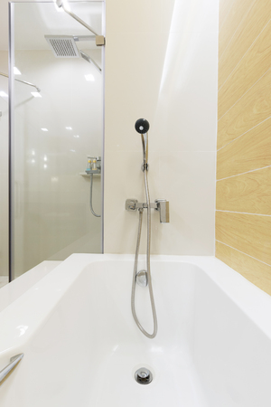 bathtub shower are ready for new arrival customer.