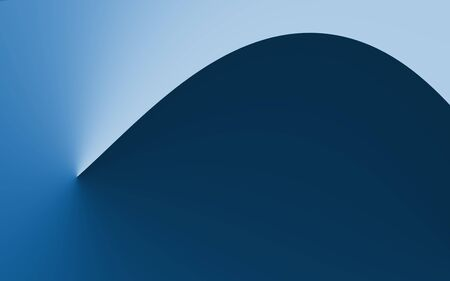 Blur gradient blue curve absrtact background, simply smooth and clean background.