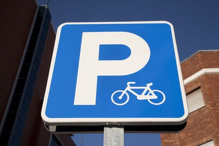 Cycle Parking Sign Stock Photo - 7218260