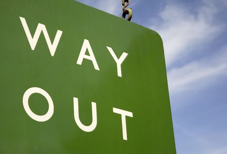 way out: Way Out Sign