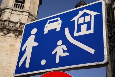 Urban Traffic Street Sign Stock Photo - 7273629