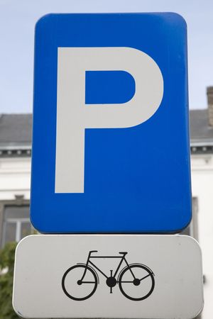 Bike Parking Sign Stock Photo - 7276860