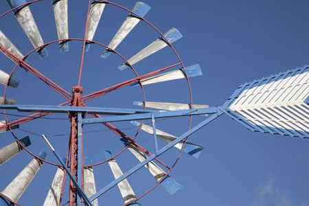traditional windmill: Close-up of Traditional Windmill