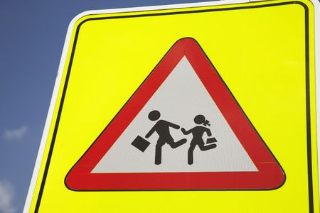 Yellow School Safety Sign Stock Photo - 7411683