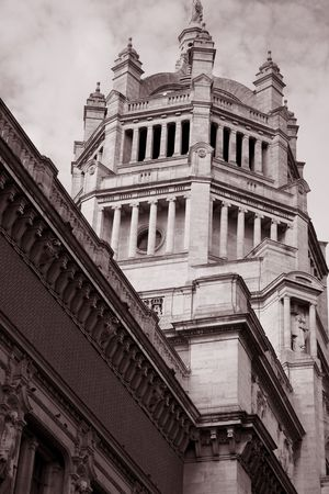 Victoria and Albert Museum in Sepia Black and White Tone in London; England photo