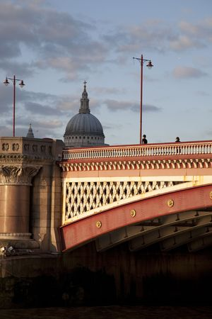 blackfriars bridge: Blackfriars Bridge on the River Thames in London, England Stock Photo