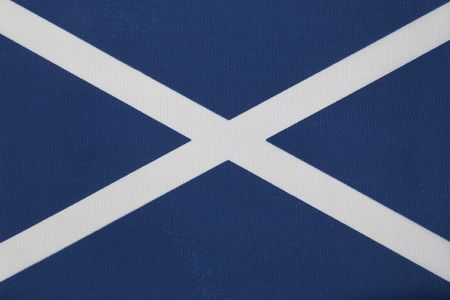 scottish flag: Close up of The Scottish Flag of St Andrew
