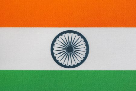 Close up of Indian Flag Stock Photo