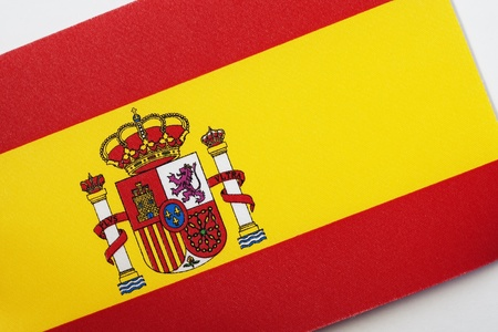 Close up of the Spanish Flag on a Tilted Angle