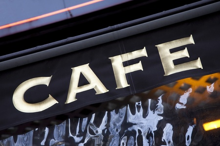 Cafe Sign in Paris, France