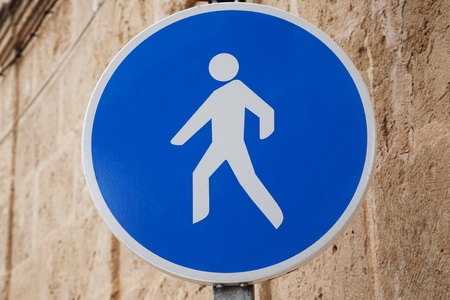 Pedestrian Sign in Urban Setting Stock Photo - 8745880