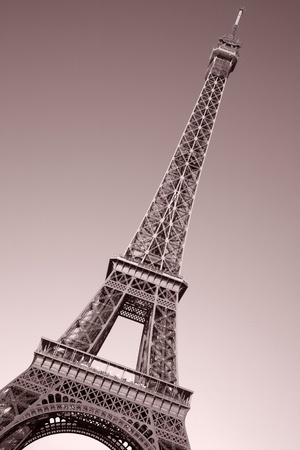 Eiffel Tower on Tilted Angle in Paris, France photo